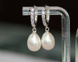 drop pearl earrings pearl drop earrings etsy