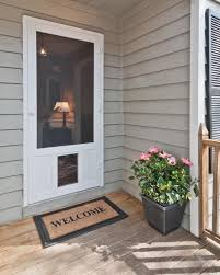 Patio Panel Pet Door by Screen Doors Solid Vinyl Wood And Pressure Treated Wood Doors
