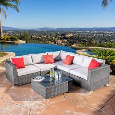 Real Wicker Patio Furniture - amazon com henderson outdoor 7 piece wicker seating sectional set