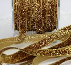 gold metallic ribbon gold glitter ribbon 3 8 wide by the yard gold glitter