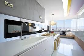 bright contemporary interiors of split level apartment in cyprus