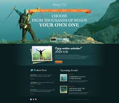 website template 46472 hiking club huker custom website template