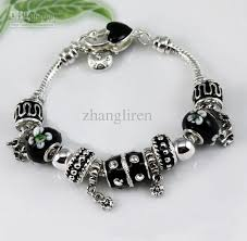 black beaded charm bracelet images Fashion european design lovely beads charm 925 silver bracelet diy jpg