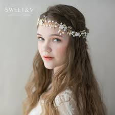bohemian hair accessories bohemian hair accessories freshwater pearl headband wedding hair