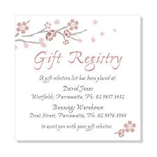gift registries wedding registry cards for baby shower amusing wording for ba shower gift