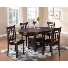 coaster lavon espresso dining table with 18