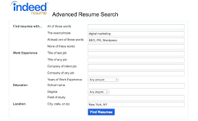 indeed resume search indeed resume search cost how to use 3 advanced exle inssite