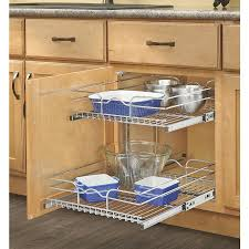 attractive pull out shelves for kitchen rev a shelf 17 75 in w x