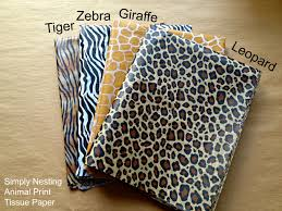 cheetah print tissue paper 10 sheets animal print tissue paper sheets tiger zebra