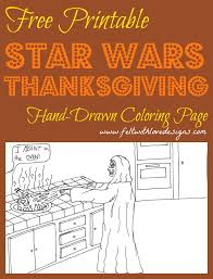 free printable coloring page wars thanksgiving cooking
