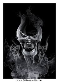 smoke n skull tattoos outline pictures to pin on