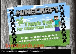 Unavailable Listing On Etsy - minecraft thank you cards printable best of unavailable listing on
