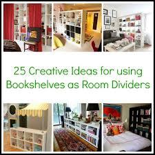 25 Creative Ideas for using Bookshelves as Room Dividers