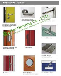 Glass Fire Doors by 60 Minutes Double Leaf Swing Commercial Fire Rated Wooden Doors