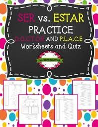 20 best ser vs estar images on pinterest spanish grammar