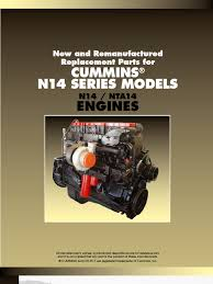 cummins n14 catalog piston fuel injection