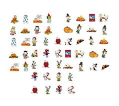 thanksgiving decals 60 fall winter peanuts waterslide nail decals
