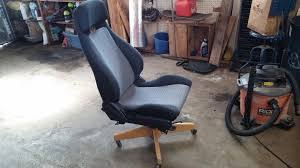 Diy Desk Chair A While Ago I Saw A Post On Car Seat Office Chairs So I