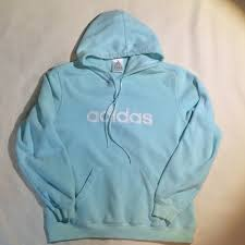 light blue adidas hoodie adidas tops light aqua blue sweatshirt poshmark