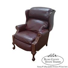 chairs wing chair recliners image of leather wingback recliner