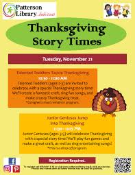 pre thanksgiving programs for toddlers and pre schoolers