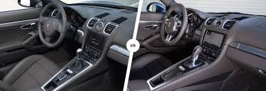 2015 porsche boxster interior porsche boxster vs cayman driver u0027s car duel carwow