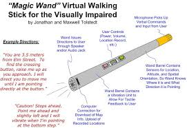 Blind People Canes Virtual Walking Stick For The Visually Impaired Create The