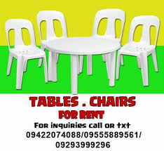 table and chairs for rent tables and chairs for rent rental services laguna philippines
