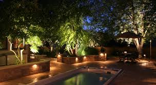 Pool Landscape Lighting Ideas Small Pool Brightened Landscape Lighting Ideas Fence Dma Homes