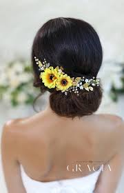 sunflower headband sunflower bridal headpiece sunflower hair comb sunflower headband