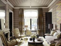 Family Room Curtains Striped Wallpaper For Formal Family Room Ideas With