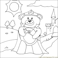 princess teddy bear coloring free bear coloring pages