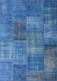Vintage Overdyed Turkish Rugs Rugsville Vintage Turkish Overdyed Patchwork Mazzarine Blue Rug