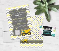 construction baby shower caution a baby is construction baby shower invitation by