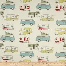 premier prints vintage camper formica from fabricdotcom screen