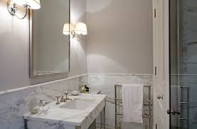 Wainscoting Over Tile Marble Tiled Wainscoting Design Ideas