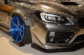 widebody wrx engraved subaru wrx sti with widebody kit is pure art at 2016 sema
