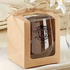 stemless wine glasses wedding favors personalized 9 oz stemless wedding wine glasses