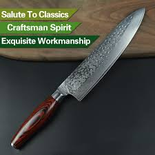 Damascus Steel Kitchen Knives New 8 Chef Knife 73 Layers Japanese Damascus Steel Kitchen Knife