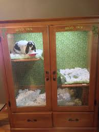 A Key To The Armoire Bunny Owners Build Him An Adorable Hutch Hop Inn