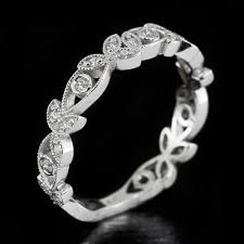 filigree wedding band vintage platinum g h vs diamond wedding band filigree ring floral