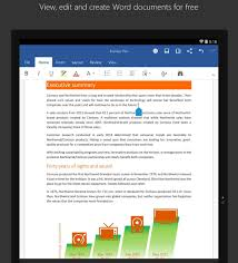 word for android microsoft word powerpoint excel launched for android tablets with