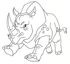 drawn rhino african rhino pencil and in color drawn rhino