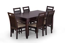 buy large wooden dining table set online 6 seater wooden dining