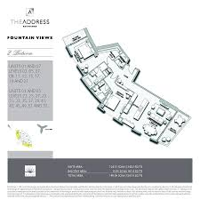 dubai mall floor plan the address residence fountain views emaar properties