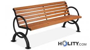 panchine legno panchina per arredo urbano in legno con braccioli h14018