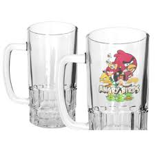 cartoon beer pint 20oz clear glass dye sublimation beer mug blank