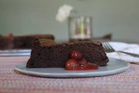 flourless chocolate torte local cherry coulis
