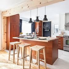 cuisine à aire ouverte complètement transformée cuisine avant