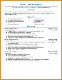 Resume Livecareer General Labor Warehouse Resume Sample General Labor Resume